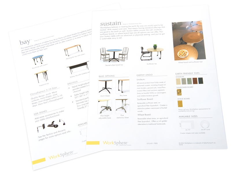 Product Sales Sheet Print Graphic Design